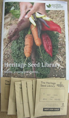 Heritage Seed Library catalogue 2015 + seed packets