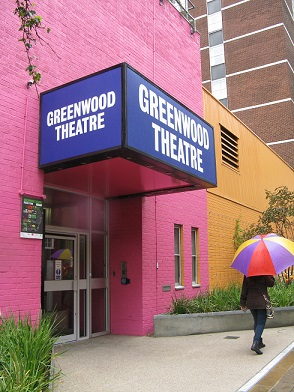 Entrance to Greenwood Theatre, Weston Street, London SE1
