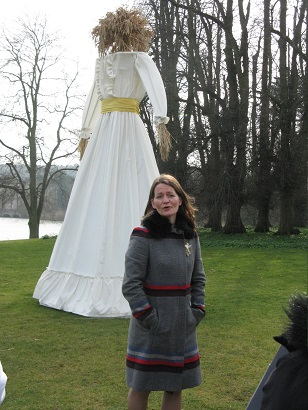 Faye Claridge with Kern Baby at Compton Verney March 2015