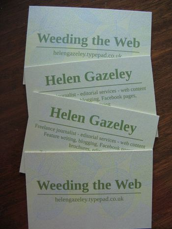Business cards overlapping