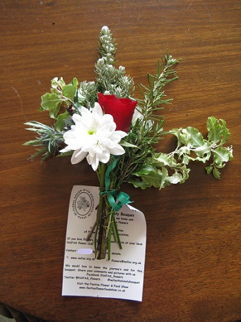Lonely Bouquet posy with label