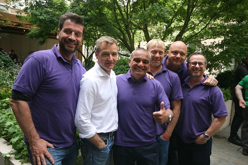 DIY SOS Team and Chris Beardshaw on completed GOSH Garden