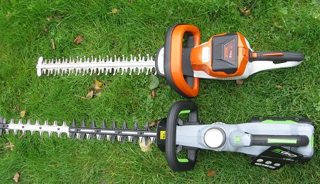 EGO 6500E and Stihl HSA56 hedge cutter