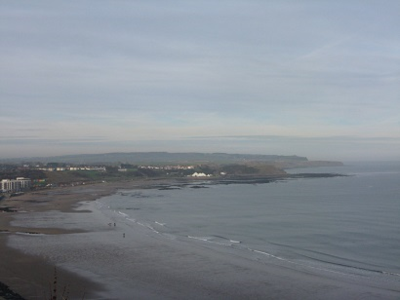 Looking north along coast from Scarborough