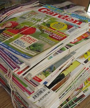 Piles of magazines