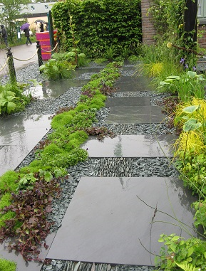 Parking area in Sean Murray's garden, Chelsea 2015