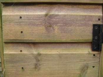 Shiplap cladding showing grooves
