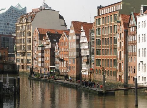 By a canal, Hamburg, Germany