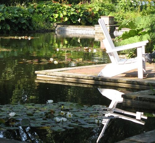 Tranquil corner, Botanical Gardens, Hamburg, Germany