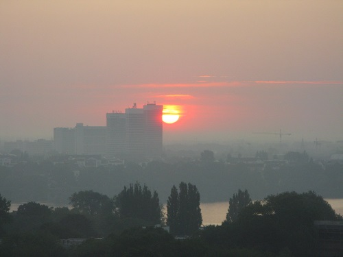 Sunrise, Hamburg, Germany