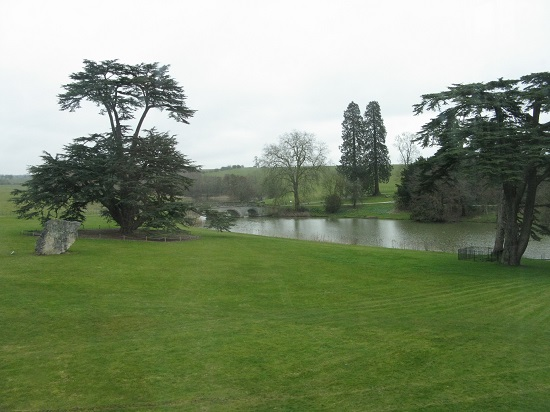 View from first floor towards bridge at Compton Verney