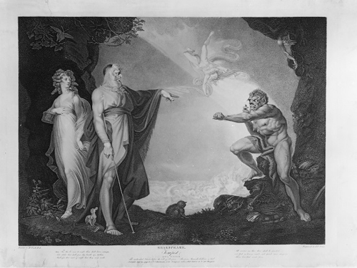 Henry Fuseli, Prospero, Miranda, Caliban and Ariel, Plate 4 from The Boydell Shakespeare Gallery  1786-89 © York Museums Trust