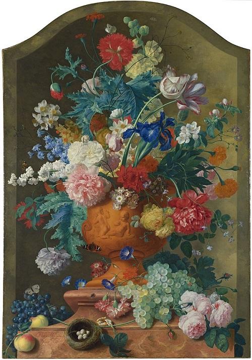 N-0796 Jan van Heuysum Flowers in a Terracotta Vase