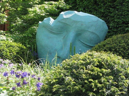 Sculpture, Morgan Stanley garden, Chris Beardshaw, Chelsea 2016