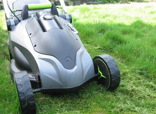 Gtech lawn mower  spring grass