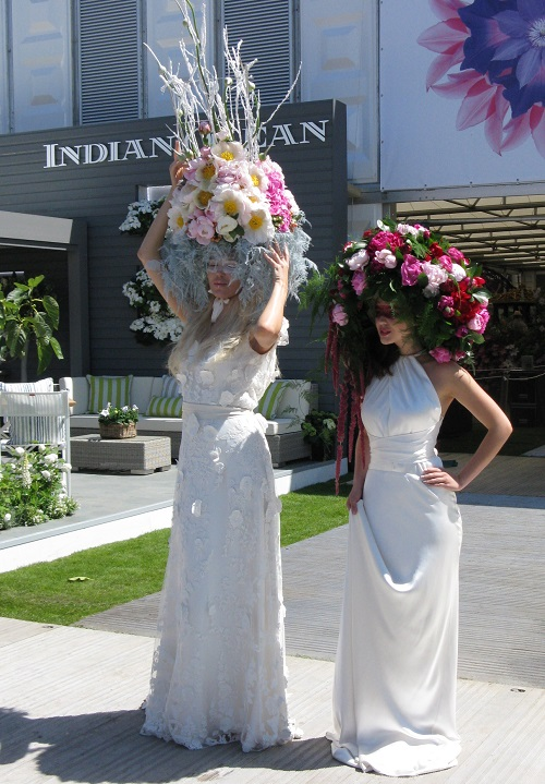 Flower headdresses  Chelsea Flower Show 2017